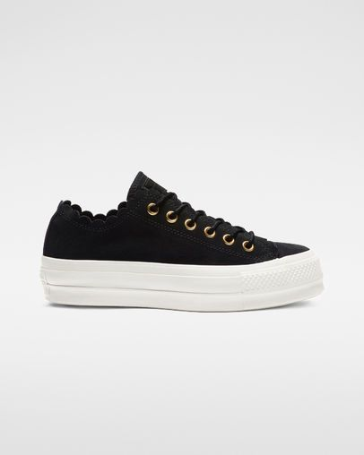 converse platform suede low top