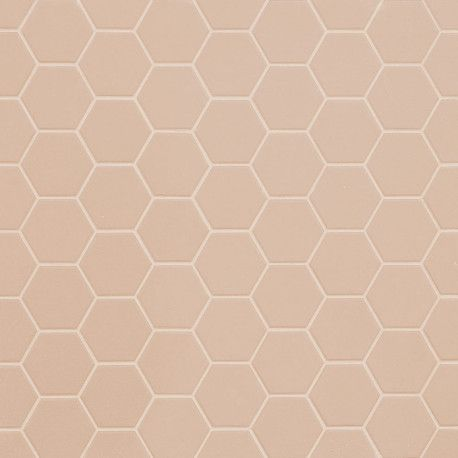 Mosaique Sol Et Mur Hexagonale Rose Rosy Blush Mat 30x30 Cm En