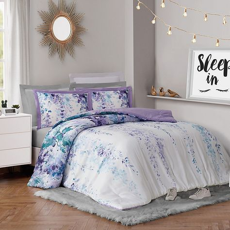 Vcny Home Cosmo 10 Pc Queen Comforter Set Bedding Comforter