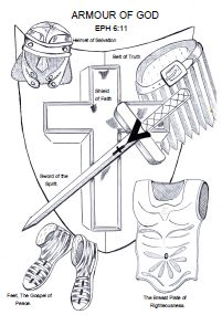 Full Armor of God Coloring Sheet | Kids sermon notes/activity ...