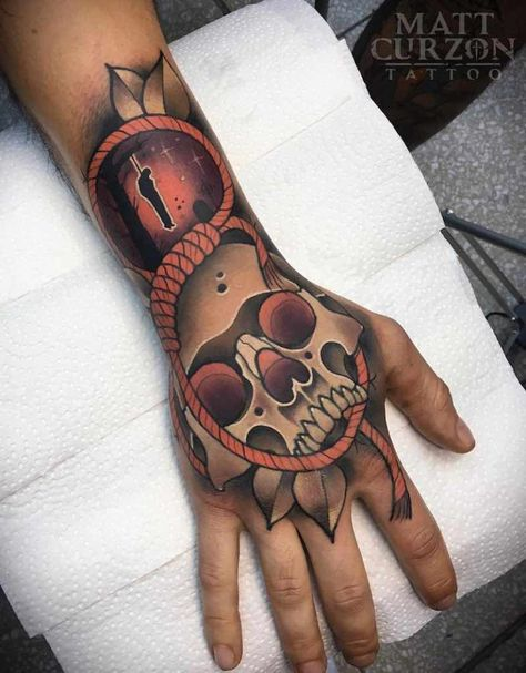 Skull Tattoo by Matt Curzon