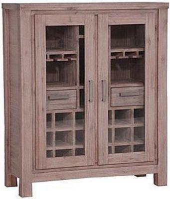 Bar - Glasschrank Akazie teilmassiv Jetzt bestellen unter   - bar wohnzimmer möbel