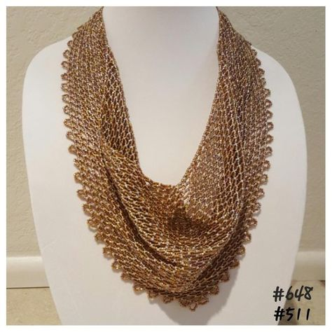 Solid Netted Beaded Scarf Pattern by DMDesignsByDeona on Etsy
