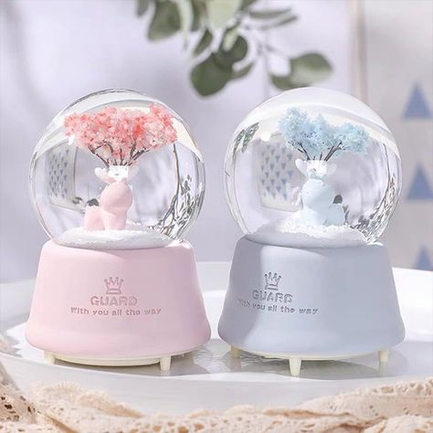 Buy the Winter Fantasy Snowglobe to bring the lovely look of snow alive when you shake it. Designed to be given as a gift or become a unique home decoration, each snowglobe is both functional and beautiful. Find more unique home decor at Apollo Box! Aesthetic Room Decor, Pink Aesthetic, My Room, Girl Room, Apollo Box, Kawaii Room, Cute Room Decor, Room Accessories, Glass Globe