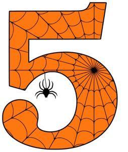 Free Printable 5 Five Halloween Number Alphabet