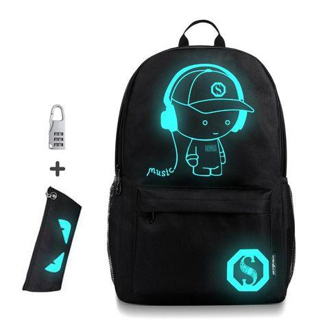 32e499e97810 35% СКИДКА|Анти Вор сумки ночник школьный рюкзак для детей с пеналом  светящиеся школьные сумки для мальчика девочки Студенческая школьная сумка  купить на ...