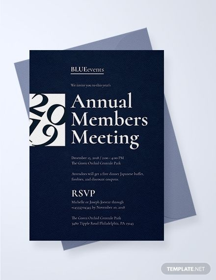 Business Meeting Invitation Want To Invite Members To A Business Meeting Using Business Events Invitation Event Invitation Design Corporate Invitation Design