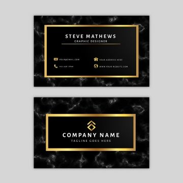 Marble Business Card Template Business Card Template Colorful Business Card Business Card Design Black