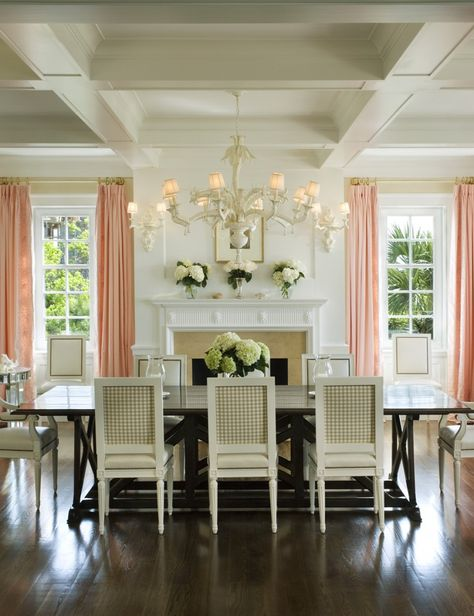 Lovely and sophisticated dining room.