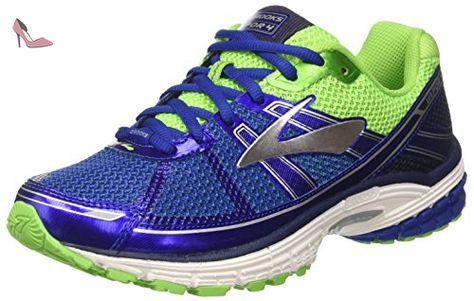 Brooks Launch 4, Chaussures de Gymnastique Homme, Noir (Black/Anthracite/Electric Blue), 42.5 EU
