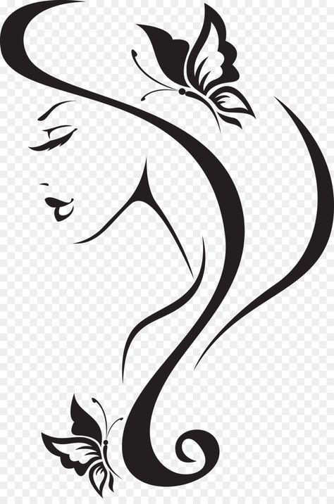 Beauty Parlour Wall decal Barbershop Hairdresser invisible woman Unlimited D Pencil Art Drawings, Art Drawings Sketches, Easy Drawings, Drawing Faces, Outdoor Fotografie, Molduras Vintage, Barbershop Design, Silhouette Art, Barber Shop