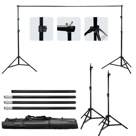 Zimtown 10ft Adjustable Background Support Stand Photo Photography Video Backdrop Kit Walmart Com Video Backdrops Background For Photography Studio Backdrops