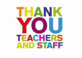 Thank you saying for teaching staff at end of school year fron ...