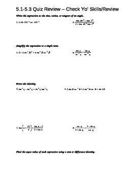 Trig Identities And Proofs Worksheet Trigonometry Worksheets Algebra Worksheets Worksheet Template
