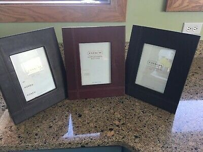 3 Coach Leatherware Picture Frame 9 1 2 X 11 3 4 For 5x7 Image Fashion Home Garden Homedcor Frames Ebay Link In 2020 Picture Frames Frame Double Picture