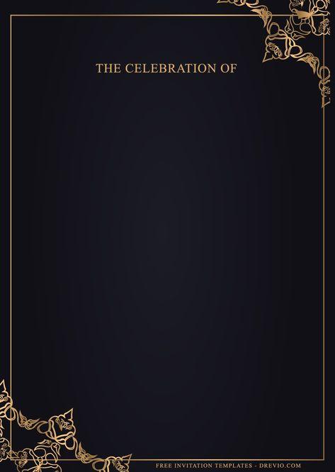 11+ Stunning Luxury Gold Birthday Invitation Templates