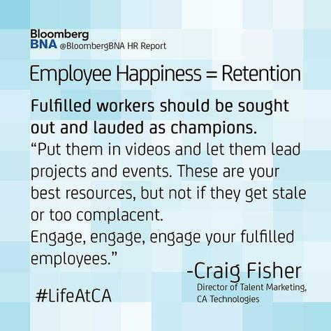 My thoughts on employee happiness u003d #retention quoted in - hr report