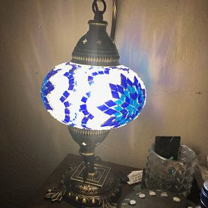 10 Xl Turque Marocaine Fait A La Main Mosaique Suspendus Etsy In 2020 Turkish Mosaic Lamp Mosaic Lamp Lamp