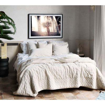 Paolo Velvet Bedspread In Ivory Bed Spreads Velvet Bedspread