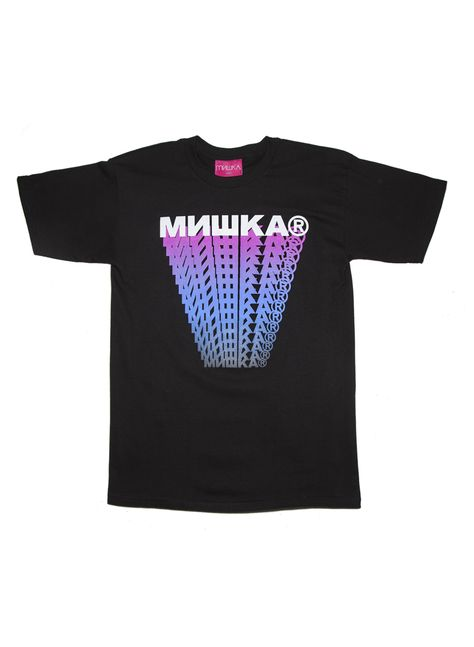 Cyrillic Logo Trails T-Shirt (Black)