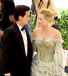 """""""Lili Reinhart and Cole Sprouse attend Fashion & The Catholic Imagination Costume Institute Gala at The Metropolitan Museum of Art in New York City (May 07) """""""