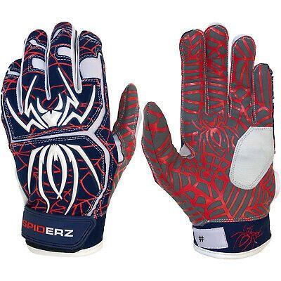 Black//White Spiderz 2020 Hybrid Baseball//Softball Batting Gloves XXL