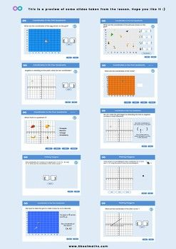 Coordinates 6th To 8th Grades Uk Key Stage 3 Ks3 Maths Worksheets Coordinates Homeschool Math