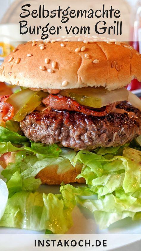 Selbstgemachte Burger sind super lecker, gesund und sehr einfach zu machen. Ob Hamburger, Cheeseburger oder double Cheeseburger, mit meinem einfachen Rezept mit Schritt-für-Schritt Anleitung gelingt es auch dir egal, ob in der Pfanne oder auf dem Grill. Toll auch für Kinder, da frisch und selbst gemacht.  #burger #hamburger #cheeseburger #grillen #kinderessen