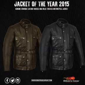 Bikers Gear Classic Vintage Trail Blazer Motorcycle Waxed Age Treated Brown Leather Jacket Biker Gear Brown Leather Jacket Leather Jacket