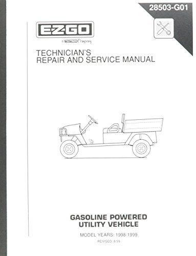 Golf Carts Ideas Ezgo 28503g01 19981999 Technicians Repair And Service Manual For Gas St350 Workhorse Learn More By Visiting Technician Golf Carts Repair