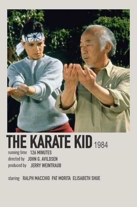 The Karate Kid polaroid movie poster