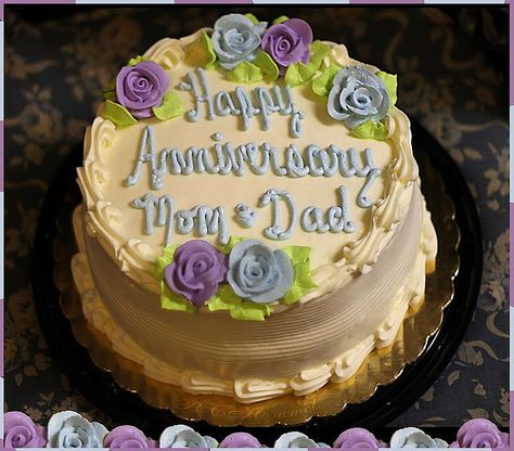 Happy Anniversary Mom And Dad Cake Moms And Dads Wedding