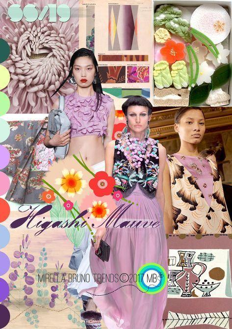 Higashi Mauve SS/19  Mirella Bruno Print Pattern and Trend Designs. trends Fas