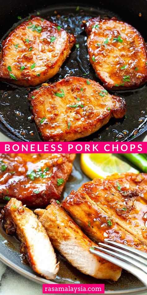 Honey Garlic Pork Chops, Honey Garlic Sauce, Garlic Parmesan, Garlic Minced, Pork Recipes, Cooking Recipes, Healthy Recipes, Easy Pork Chop Recipes, Pork Chop Meals