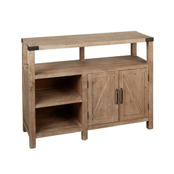 The Grainhouse Natural Wood 2 Door Media Cabinet Christmas Tree Shops And That Home Decor Furniture Gi Rustic Media Cabinets Furniture Furniture Gifts