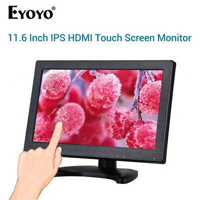 Details About Eyoyo 12 Ips Touch Screen Monitor Built In Loudspeaker Vga Display For Cctv Pc In 2020 Usb Speakers Hdmi Vga