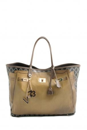 Brown leather Shopping bag V ORMJTtefl
