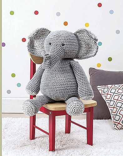 Ravelry: Cheers - The Happy Amigurumi Elephant pattern by Lonemer ... | 500x393