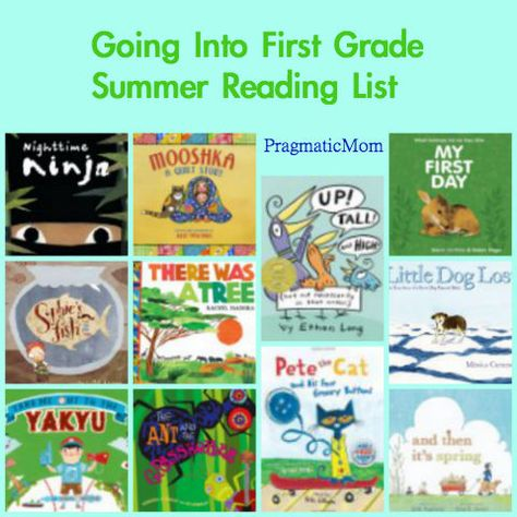 Going into First Grade summer reading list :: PragmaticMom