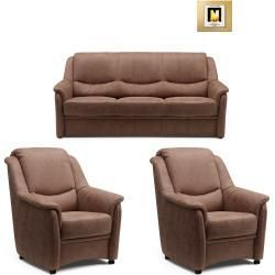 3 Piece Upholstery Set Toffee Microfiber Roller In 2020 Couch Set Toffee Couch