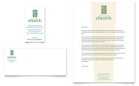 Christian Church Business Card And Letterhead Template Design By