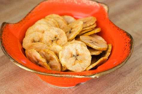 How to Make Dried Plantains - We usually fry up plantains in coconut oil but this time I dehydrated them. They make perfect delicious Paleo on-the-go snack!