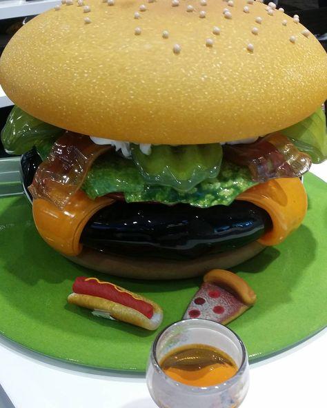 Hamburger Made Out Of Glass Glass Hamburger