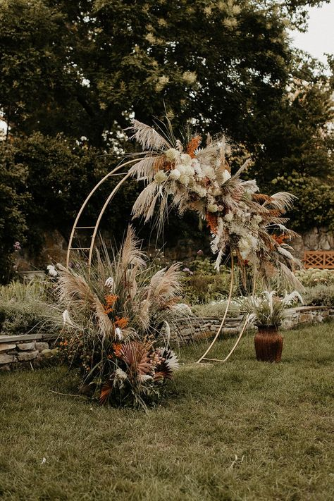 Crossed Keys Estate | Boho Wedding Inspiration | MakeUp By Samantha Linn | Are you a New Jersey bride? Crossed Keys Estate is a PERFECT wedding venue for everything you need. This bohemian wedding featured a rust-toned color palette and lots of dreamy pampas grass! See more on the blog. Photo: Tori Kelner Photography. #njbride #newjerseywedding #newjerseybride #njwedding #crossedkeysestate #bohowedding #weddinginspiration #newjerseymakeupartist #njmakeupartist
