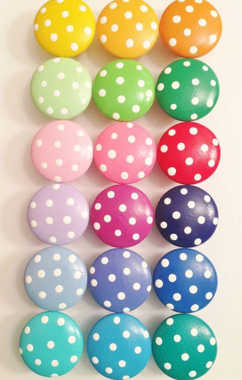 Polka Dot Dresser Knobs, Nail Covers or Closet Door Knobs