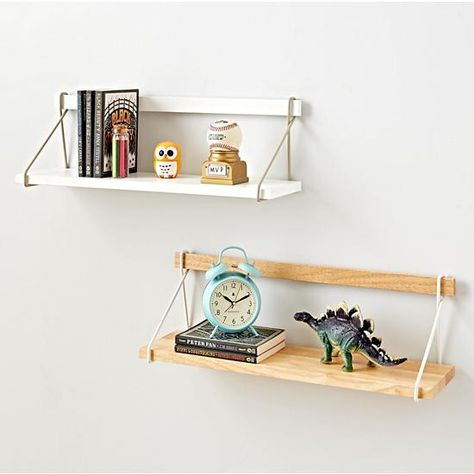 Shop Suspension Wall Shelf.  Suspend your disbelief for a moment and picture a wooden wall shelf that appears to be suspended by a clean, metal frame.  Now that you've pictured it, why not add a few to your wall?.