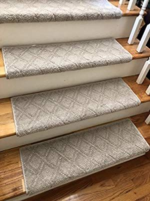 Amazon Com One 27 Wide X 10 Deep Tread For 1 Thick Step Lambs Wool Light Taupe Grey Sold Each Chapstre Carpet Stair Treads Stain Resistant Stair Treads