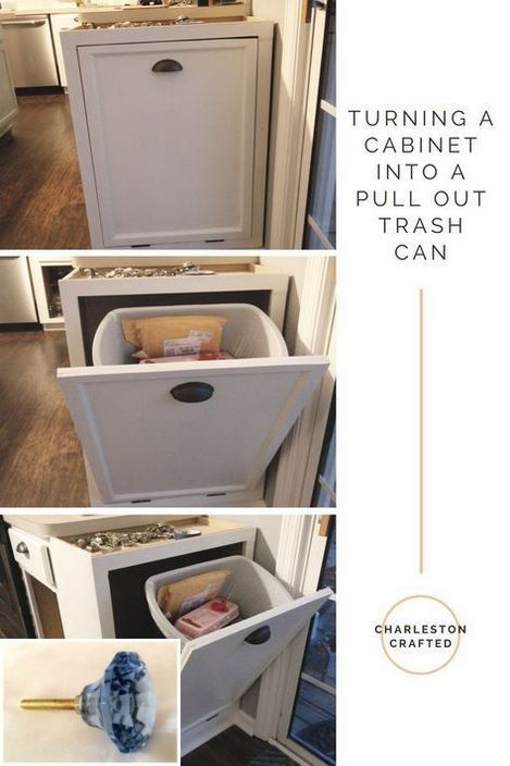 Dark Light Oak Maple Cherry Cabinetry And Solid Wood Shaker Kitchen Cabinet Doors Check The Pict Trash Can Cabinet Pull Out Trash Cans Kitchen Trash Cans
