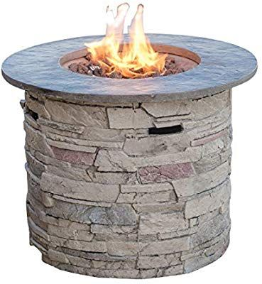 Amazon Com Christopher Knight Home 296659 Rogers Propane Fire Pit