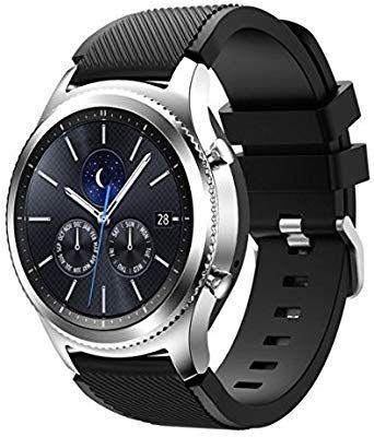 Amazon Com Samsung Galaxy Gear S3 R775 Classic Smartwatch Bluetooth S3 Classic Black Silicone Band Renewed Ca In 2020 Samsung Gear Samsung Smartwatch Bluetooth